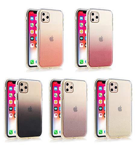 Funda Rigida Reforzada Color Degradado Purpurina Silicona TPU (iPhone 6 Plus - 7 Plus - 8 Plus, Fucsia)