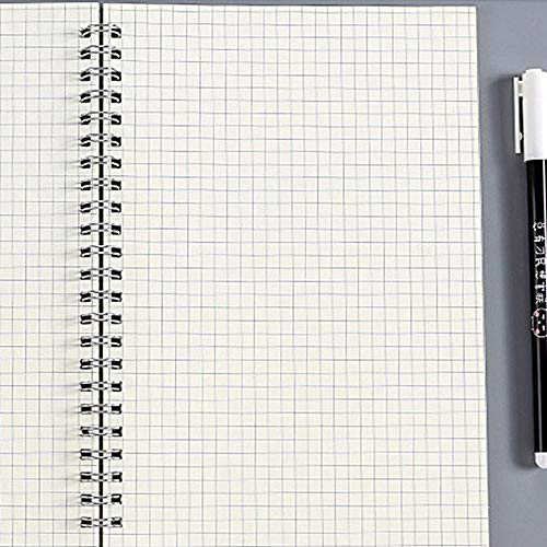 hengguang Tweedelig A6 A5 B5 Schoolbenodigdheden Notitieboek, Geruit Vierkant Notitieboek, Stippellijn Blanco Tekening Organisator Planner Agenda Boek Tijd Briefpapier 1 A5 /Grid1