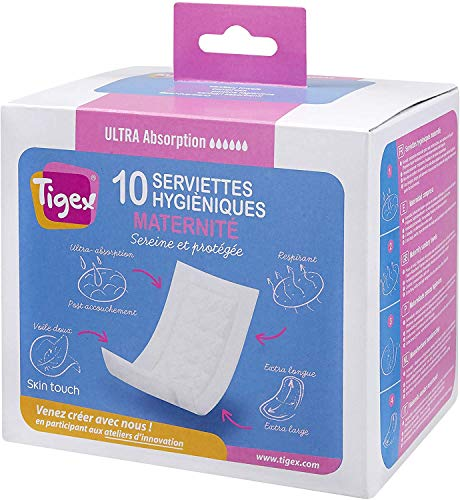 Tigex compresas maternidad | 10 unidades