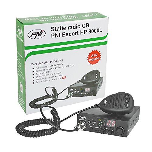 CB radio PNI Escort HP 8000L con Ajustable ASQ, 4W, Función de bloqueo de teclas, Potencia 4W