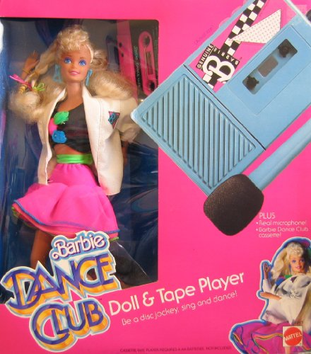 BARBIE DANCE CLUB Doll & TAPE Playset w DOLL, CASSETE PLAYER w Real MICROPHONE & More! (1986)