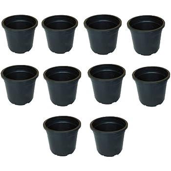 Kerala Agro Organics Plastic Plant Pot/Planter Pots 4 inch Small - Black (10)