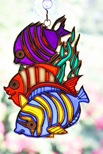 NIFER Colorful Tropical Fish Suncatcher Colorful 5