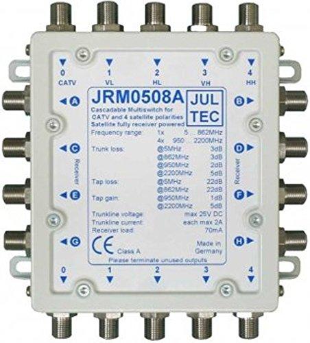 JULTEC JRM0508A Multischalter (8 Teilnehmer und mehr Receivergespeist ohne Strom, Stromanschluss)