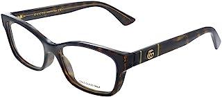 Gucci GG 0635O 005 Havana Plastic Rectangle Eyeglasses 53mm