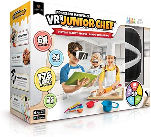 Professor Maxwell s VR Junior Chef Virtual Reality Kids Cookbook and Interactive Cooking Food product image
