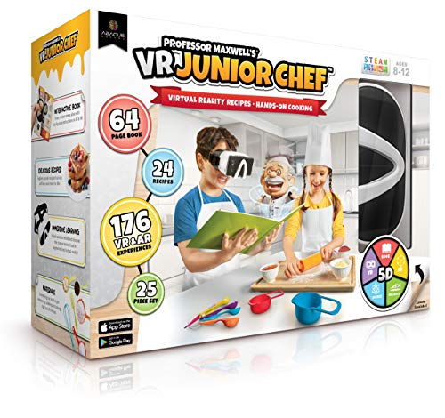 Professor Maxwell's VR Junior Chef - Virtual Reality Kids Cookbook and Interactive Food Science Learning Activity Set