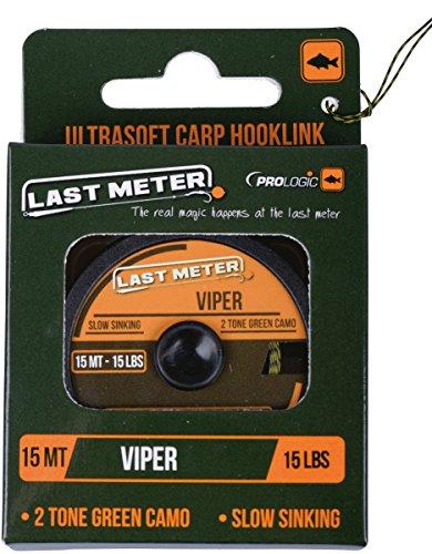Prologic Viper Ultrasoft 15m - Vorfachschnur zum Karpfenangeln, Karpfenvorfach, Vorfachmaterial für Karpfen, Karpfenschnur, Tragkraft:35lbs/15.9kg