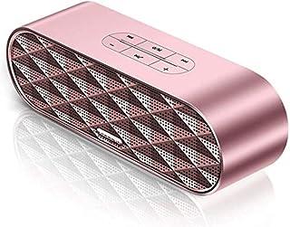 KJRJLY Bluetooth Speaker, Laptop Audio Subwoofer Multimedia Desktop Small Speaker Mini Usb Home Impact Waterproof Battery Life Sound Quality (Color : Pink)