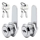 RtottiM Cam Lock - Juego de 2 cierres para cajones (4 llaves)
