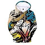 ryyhd Sudaderas con Capucha De Anime Kawaii Sudadera con Capucha Unisex 3D Impreso Tops Streetwear Sudadera Ropa De Anime-Fucsia_XXL