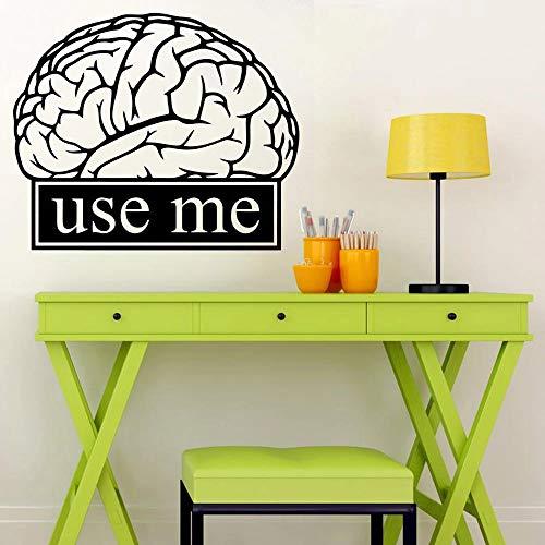 Calcomanía de pared de cerebro, actividades escolares, educación, motivación, signo de oficina, ciencia, vinilo, calcomanía de pared, pegatina, decoración de aula para estudiantes