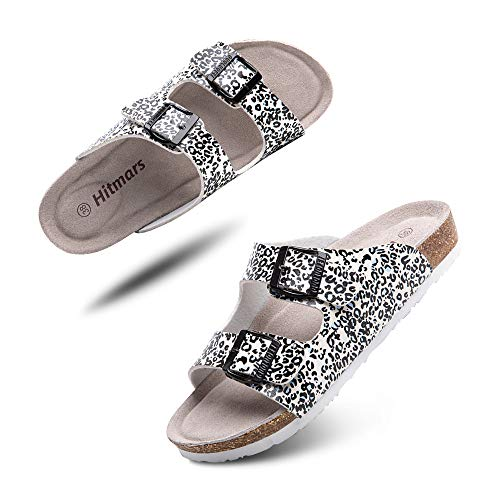Sandalias Mujer Hombre Planas Zapatillas Verano Chanclas Con Hebilla Mules Zapatos Soporte Del Arco Comodas Leopardo Talla 36 EU