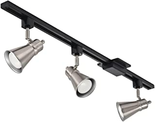 Lithonia Lighting LTKBRSD BR20 LED 27K BN M4 3-Light Lamp Shade Track Kit, 24W, 1500 Lumen, Brushed Nickel