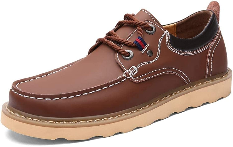 EGS-schuhe Herren Leder Freizeitschuhe,Grille Schuhe (Farbe   rot braun, Größe   44)