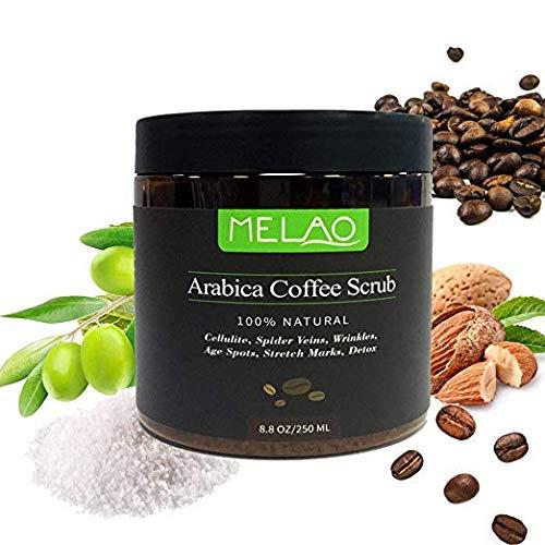 8.8 once,100% Scrub al di caff Arabica naturale con burro organico di caff, cocco e karit,