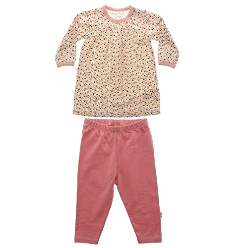 Fixoni Babytales Mädchen Baby Langarm Schlafanzug 2-teilig, 95% Baumwolle, Rosè, Gr.74, Enjoy 2-Pcs Set Silver Pink 32936 20-35