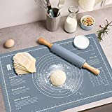 WeGuard Pastry Mat 24'x16' Extra-large for Kneading Rolling Dough Thicken Silicone Non-stick Non-slip Pastry Mat Board with Measurement Food Grade Baking Mat