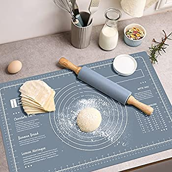 WeGuard Pastry Mat 24 x16  Extra-large for Kneading Rolling Dough Thicken Silicone Non-stick Non-slip Pastry Mat Board with Measurement Food Grade Baking Mat