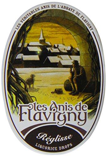 Les Anis de Flavigny Anisbonbons mit Lakritze in Sammlerdose im Verkaufsdisplay, 2er Pack (2 x 50 g)