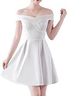 DISSA D1329 Women Pure Colour Off Shoulder Formal Dress Cocktail Full Dress SleevelessMini Evening Dress