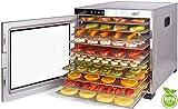essiccatore frutta e verdura acciaio inossidabile • 24 ore timer • temperatura regolabile 35-75°c + extra: 1 maglie fini 1 x vaschetta di raccolta • vita5 nobel pro essicatore (10 piani)