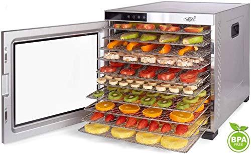 VITA5 Deshidratador Alimentos Acero Inoxidable • Temporizador 24 Horas •...