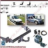 ATTELAGE avec faisceau 7 broches | Opel Corsa C Combo de 2001 à 2011 / crochet «col de cygne» démontable avec outils