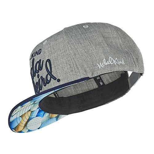 Nebelkind Snapback Cap Kinda Weird Grau Blau Stoff Pillen Kappe 6-Panel One Size
