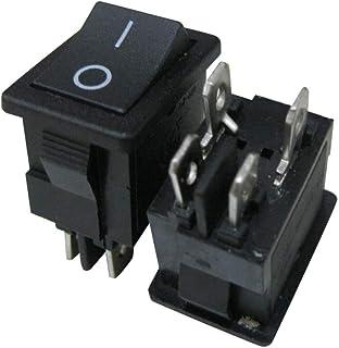 BIlinli Mini Interruptor de Palanca de 9 Posiciones ON-Off-ON 3 Posiciones AC 6A 125V 3A 250V