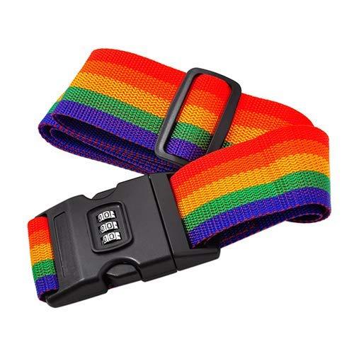 Ogquaton Luggage Suitcase Secure Belt Strap Coded Lock Safe Nylon Packing Belt Password Durable and Useful
