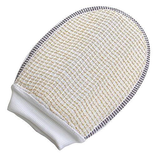 LECOrubb Peelinghandschuh, Massagehandschuh für sanftes, intensives Peeling und Massage, Handschuh, Gelb