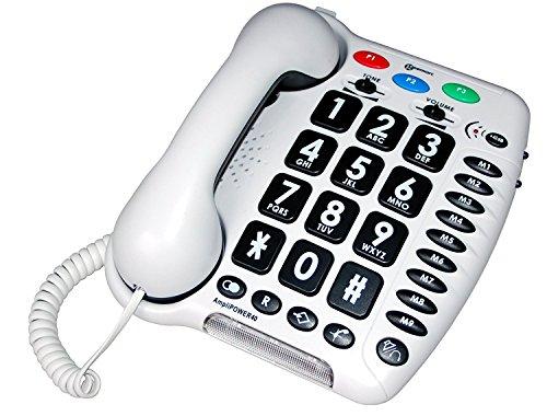 Téléphone amplifié + 50db AMPLIPOWER 40 BLANC avec grosses touches.