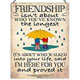 Dorothy Spring Friendship Is Not About Who You've Known The Longest Wall Quote Plaque Metal Sign Size 15x20cm