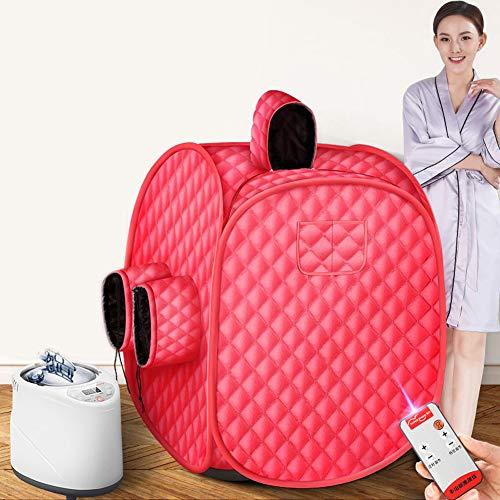 Dubbel gebruik stoom sauna, Intelligente afstandsbediening draagbare persoonlijke SPA sauna cabine thuis zweetstomer met 2L stoomgenerator