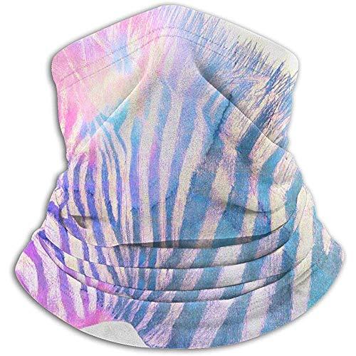Randy-Shop Zebra Art, Potlood Tekenen Opgelegd met Watercolor Fleece Neck Haarband Tube Gezicht Masker Thermische hals Sjaal