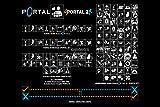 PremiumPrintsGaming - Portal 1 & 2 Symbols Poster - YPOR004 Premium Canvas 11' x 17' (28 cm x 43 cm)