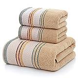 CXJJ Toalla de baño Toallas Gruesas de algodón Set de Toallas de Cara de la Toalla de baño for los Adultos Estropajos Alta Absorbente baño Traje de Toalla de Playa de Arena Hot Travel