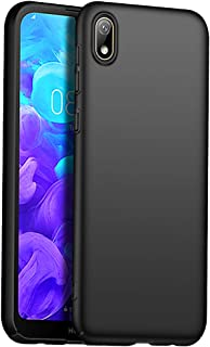 Compatible with Huawei Honor 8S Y5 2019 Case, Matte Black Ultra Thin Fit TPU Phone Cases Finish Profile Soft Back Protective Cover Case for Huawei Honor 8S Y5 2019 Black