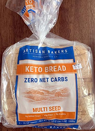 Keto Bread Multi Seed 0 g added Sugar 12 g Fiber 3g Protein per Slice Twin Pack 2 Loaves 36 oz