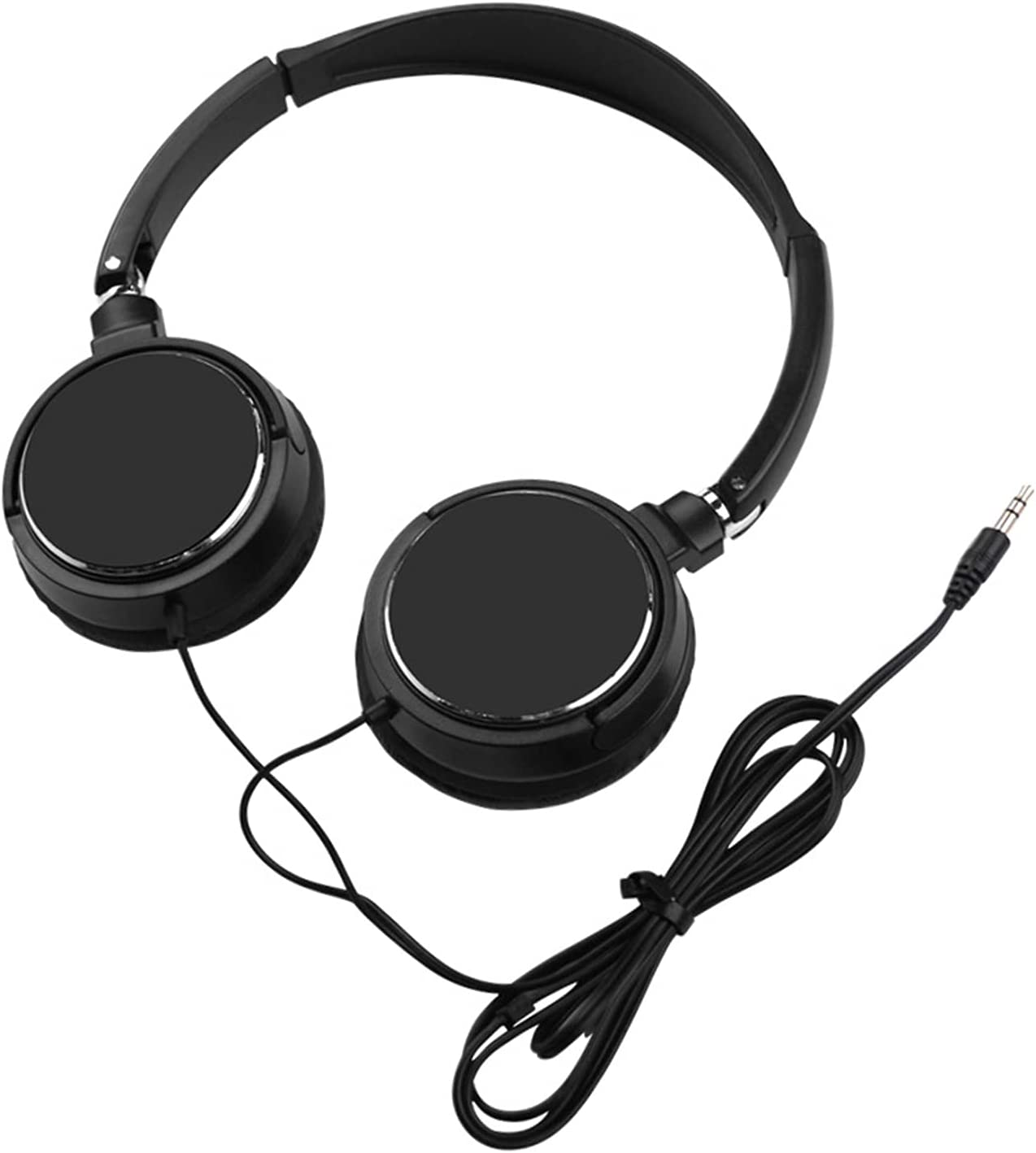 Universal Headphone Over Ear HiFi Stereo Sound Portable Wired Headset for Mobile Phone - Black