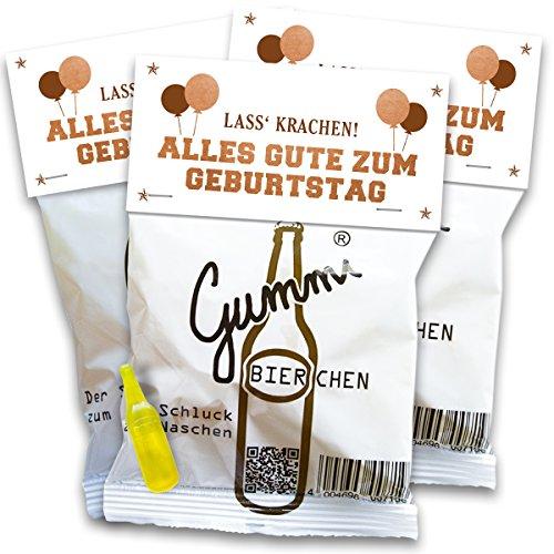 Vaterbier Gummibierchen (3x150g) Geburtstag Edition, lustiges Biergeschenk, Geburtstagsgeschenk
