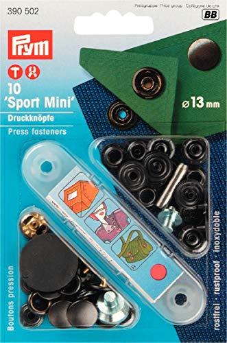 Prym 390502 Sport Mini-Botón de presión (13 mm, metal, Acabado bruñido