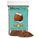 Microchip Coconut Substrate for Reptiles 12 Quart Loose Fine Coconut Husk Chip Mix Reptile Bedding