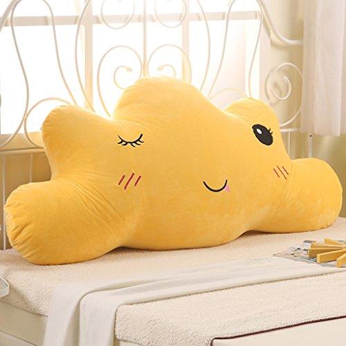 MMM- Chevet Coussin Soft Case Nuages Grand Dossier Enfant Oreiller Belle Princesse Lit Broderie Lavable ( Couleur : Le jaune , taille : 180cm )