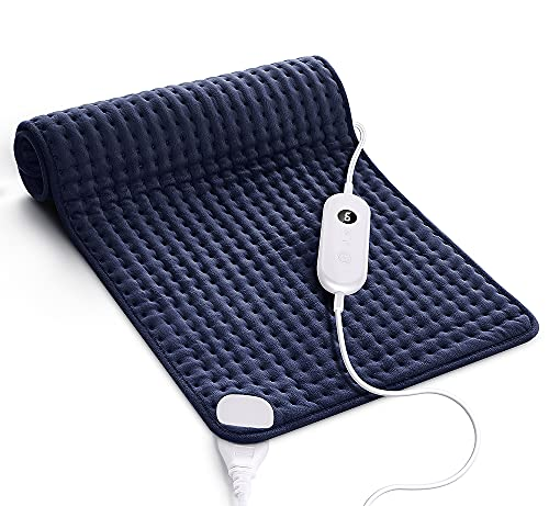Heating Pad for Back Pain and Cramps Relief, 17 x 33 Inch Ultra-Soft Heat Pad with Moist Heat Therapy, 6 Temperature Settings, Auto Shut-Off