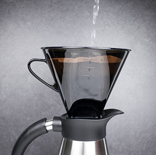 RSVP Manual Drip Coffee Filter Cone for Carafes or Thermos