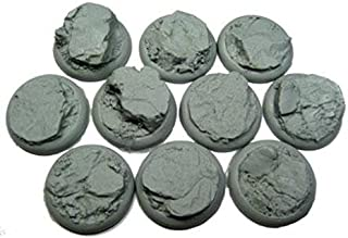 Secret Weapon Round Lip Bases: 30mm Rocky Bluff Bases (10)