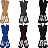 Diabetic Socks for Men Non-Slip Grip Cotton 6 Pairs Pack - Size 10-13 - Ankle/Crew 6 Colors by Amu Solutions