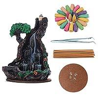 香炉、滝の逆流香バーナーマウンテンタワー香の香りの香+ お香コーン WANGSHAOFENG (Color : 2 Incense Burner)